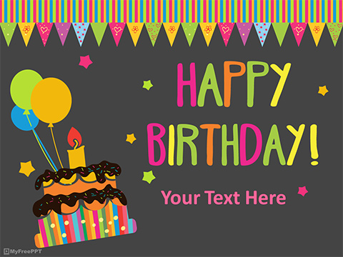 Free Happy Birthday Powerpoint Template Download Free