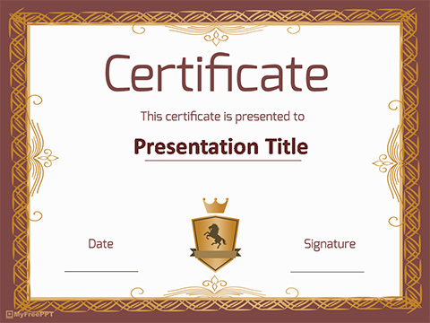 Business Certificate PowerPoint Template