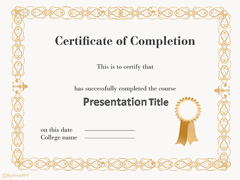 Free Certificate PowerPoint Template