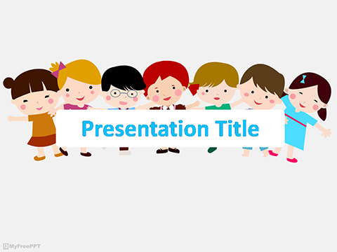 Free Children Together PowerPoint Template