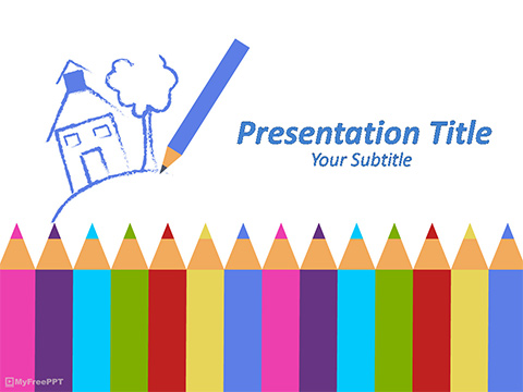 Crayons PowerPoint Template