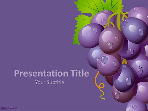 Grapes PowerPoint Template