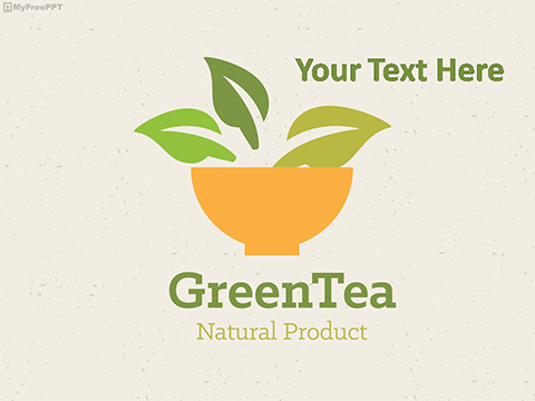 Free Green Tea PowerPoint Template
