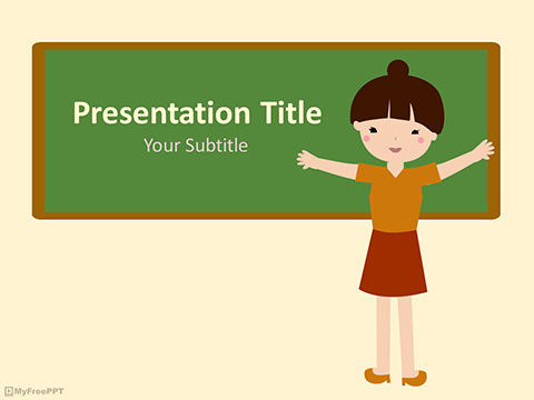 Free Kindergarten Teacher PowerPoint Template - Download Free PowerPoint PPT