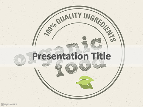 Free Organic Food Powerpoint Template Download Free