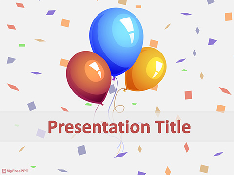 Party Balloons PowerPoint Template