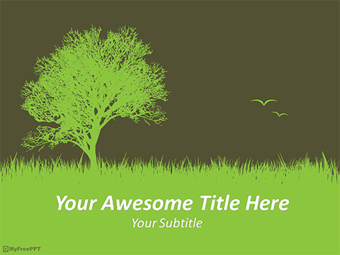 Save Tree PowerPoint Template