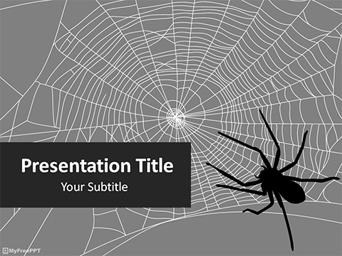 Free Spider Trap PowerPoint Template