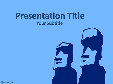 Statue PowerPoint Template