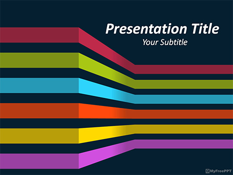 3d Lines PowerPoint Template