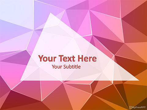 Free Abstract Triangles Powerpoint Template Download Free