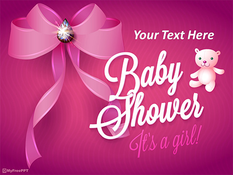 Free Baby Shower for Girl PowerPoint Template