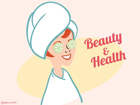 Free Beauty and Health PowerPoint Template