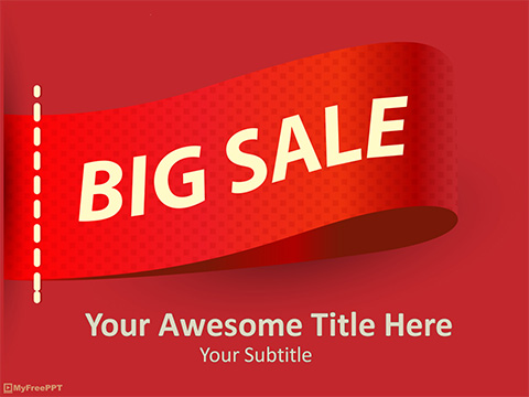 Free Big Sale PowerPoint Template