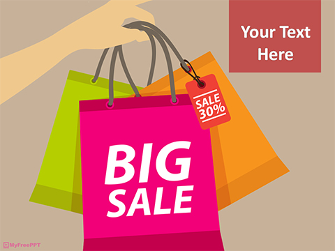 Free Big Shopping Sale PowerPoint Template