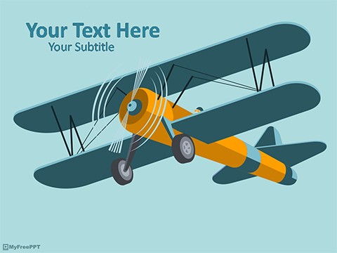 Biplane Aircraft Powerpoint Template Download Free