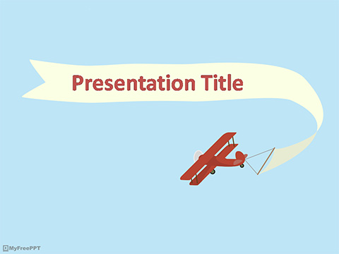 Free Biplane Banner Powerpoint Template Download Free