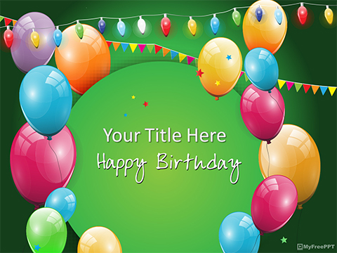 Free Birthday Celebrate Powerpoint Template Download Free