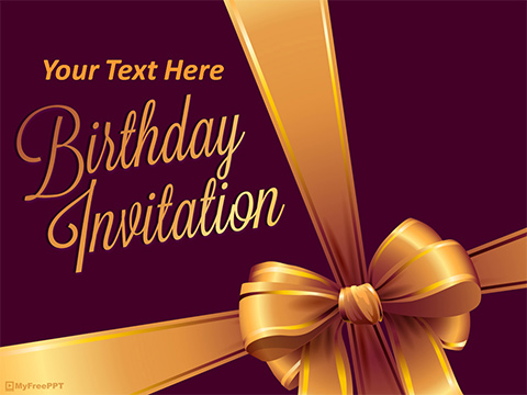 Free Birthday Invitation Powerpoint Template Download Free