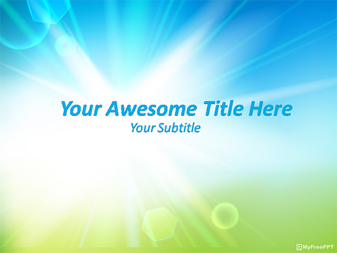 Free Bright PowerPoint Template