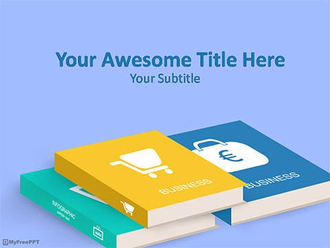 Free E-Business Books PowerPoint Template