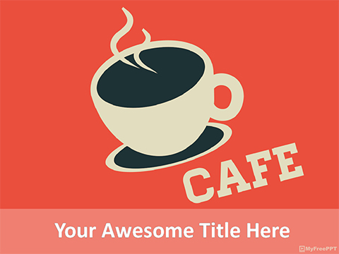 Cafe Coffee PowerPoint Template