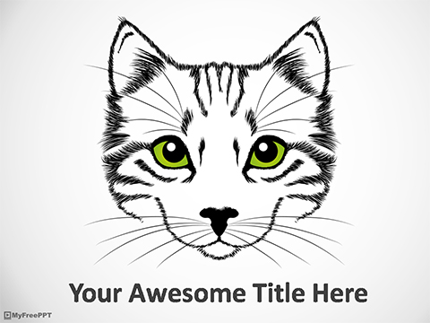 Free Cat Drawing PowerPoint Template