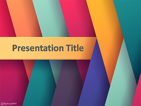 Colored Graphic PowerPoint Template