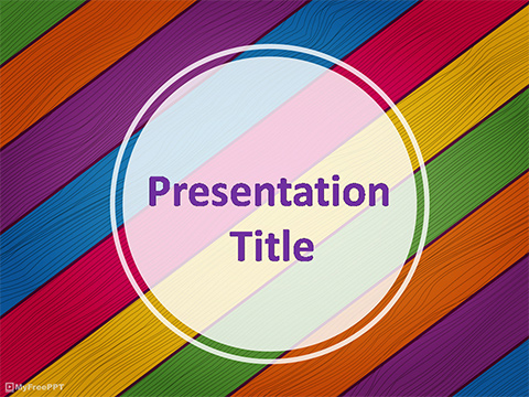 Free Colored Straps Powerpoint Template