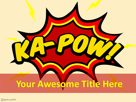 Comic Art Expression PowerPoint Template