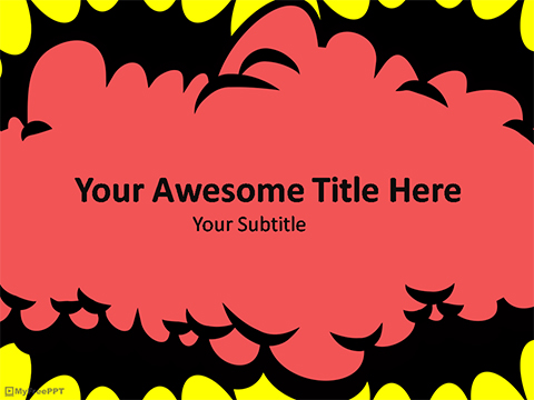 Free Comic Burst PowerPoint Template