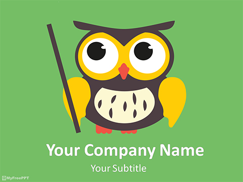 Comic Owl PowerPoint Template
