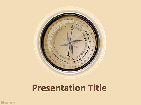 Free Compass PowerPoint Template