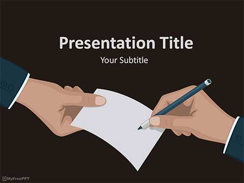 Free Contract PowerPoint Template