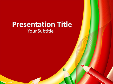 Free Crayons Background PowerPoint Template