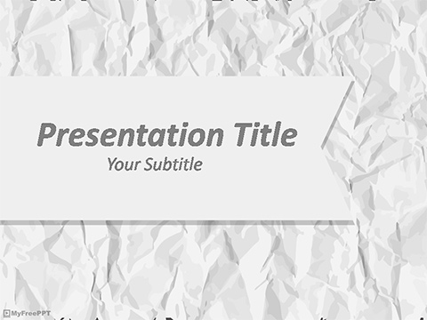 Free Creased Paper PowerPoint Template