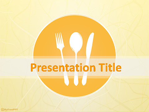 Cutlery PowerPoint Template