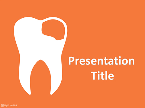 Free Damaged Teeth PowerPoint Template