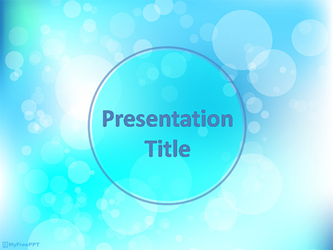 Blurred BG PowerPoint Template