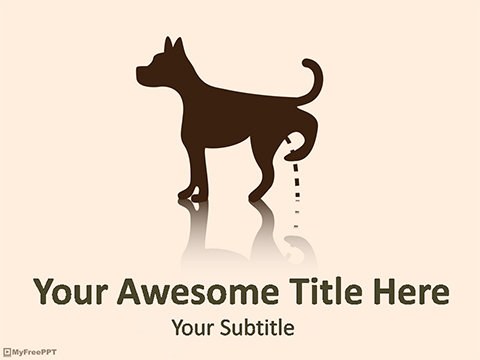 Dog Peeing PowerPoint Template