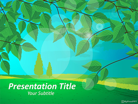 Free Landscape PowerPoint Template