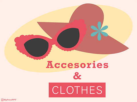 Free Fashion Accessories And Clothes Powerpoint Template