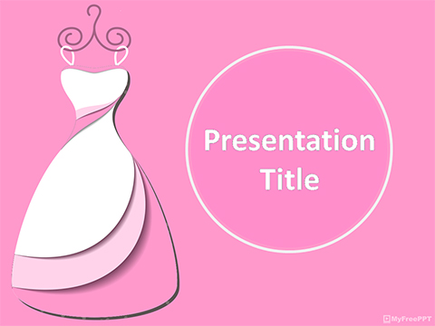 Free Female Clothes PowerPoint Template