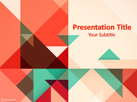 Free Geometric Art Powerpoint Template Download Free