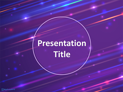 Glowing Stars PowerPoint Template