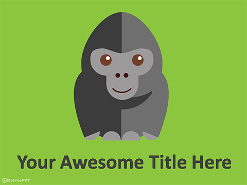Gorilla PowerPoint Template