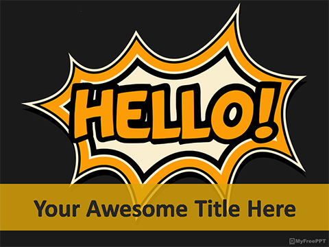 Free Hello PowerPoint Template
