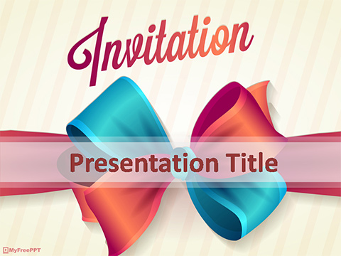 Free Invitation Background Powerpoint Template Download