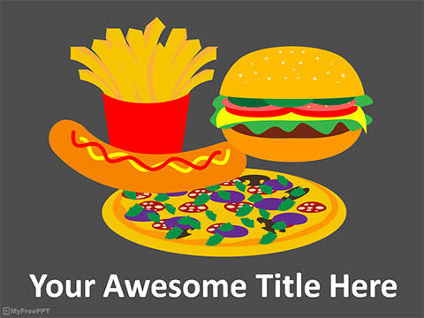 Junk Food Powerpoint Template Download Free Powerpoint Ppt