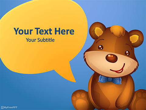 Kids Bear PowerPoint Template